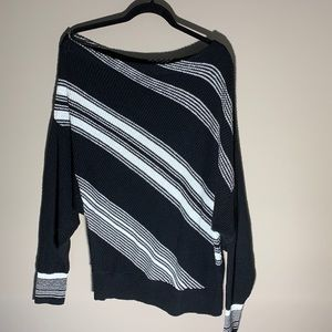 Free People Black & White Sweater. Medium.